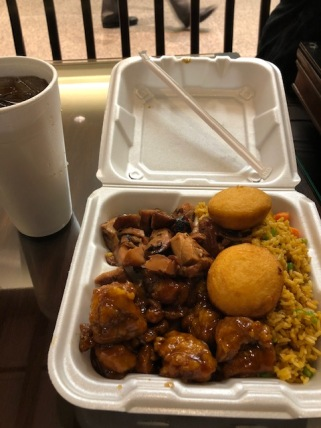$6.99 meal (Fried rice, 2 meats, egg roll/biscuit)
